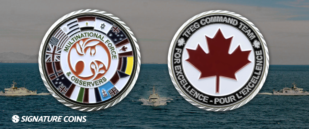 signature coins Multinational Force and Observers3