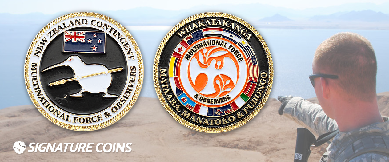 signature coins Multinational Force and Observers4